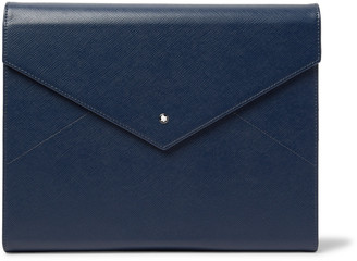 Montblanc Augmented Paper Leather Portfolio And Starwalker Resin And Platinum-Plated Ballpoint Pen Set