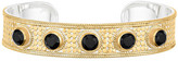 Anna Beck 18K Gold Plated Sterling Silver Black Onyx Stone Textured Cuff Bracelet