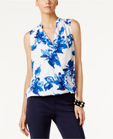 INC International Concepts Floral-Print Surplice Top, Only at Macy's