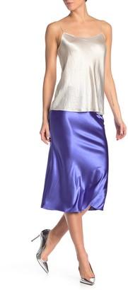 Know One Cares Satin Bias Cut Midi Skirt