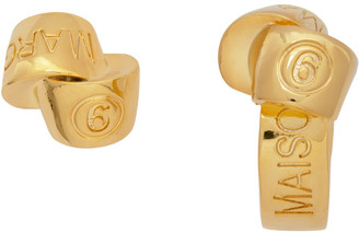 MM6 MAISON MARGIELA Gold Knot Earrings