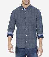 Nautica Long-Sleeve Micro-Dot Print Classic Fit Shirt