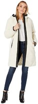 Levi's Sherpa Hooded Coaches with Quilted Lining and Faux Leather Trim (Cream) Women's Clothing