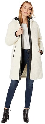 Levi's Sherpa Hooded Coaches with Quilted Lining and Faux Leather Trim