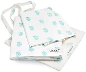 Livvy B - Coco Paisley Double Duvet Cover Aqua - 200cmx200cm | aqua - Aqua