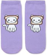 Forever 21 FOREVER 21+ Cat Breading Ankle Socks