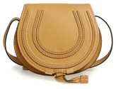 Chloé 'Mini Marcie' Leather Crossbody Bag - Yellow