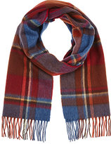 Barneys New York MEN'S PLAID CASHMERE SCARF
