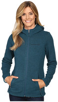 Free Country Attached Hooded Sweater Fleece Jacket with Sherpa Trim