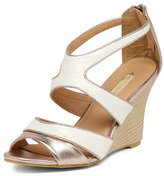 Dorothy Perkins Metallic colour block wedges