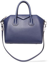 Givenchy Small Antigona Bag In Navy Textured-leather - one size