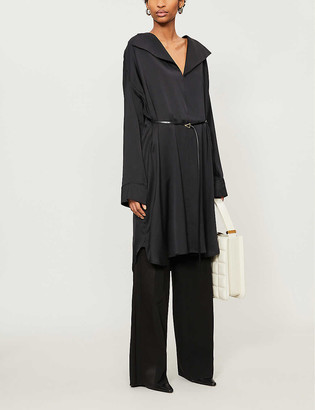Bottega Veneta Gathered silk-satin mini dress