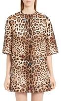 Dolce & Gabbana Women's Embellished Leopard Print Mikado Jacket