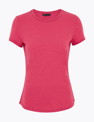 Marks and Spencer Pure Cotton Round Neck Fitted T-Shirt