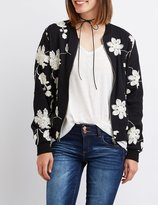 Charlotte Russe Embroidered Bomber Jacket