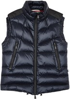 Moncler Grenoble Kostemerg Blue Quilted Shell Gilet