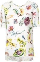 ADAM by Adam Lippes printed crew-neck T-shirt - women - Viscose - 0