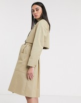 Lacoste belted trench coat in tan