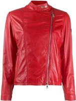 Peuterey leather short jacket