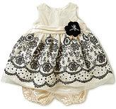 Jayne Copeland Baby Girls 12-24 Months Flocked-Border Dress
