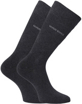 Boss Two Pack Grey Cotton Socks