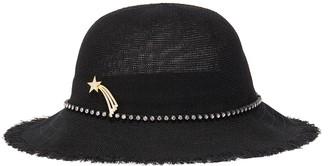 Venna Shooting star pin glass crystal linen hat