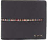 Paul Smith Signature-stripe Leather Bi-fold Wallet - Mens - Black