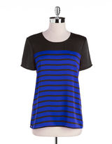 MICHAEL Michael Kors Striped Scoopneck Tee