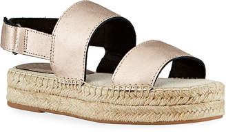 Splendid Aubrey Metallic Leather Espadrilles