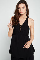 BCBGeneration Sleeveless Crochet-Trimmed Top