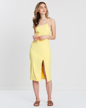 FRIEND of AUDREY - Women's Yellow Midi Dresses - Rhodes Cross Back Dress - Size One Size, 6 at The Iconic