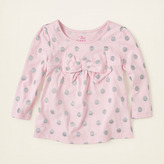 Children's Place Glitter dot bow tunic