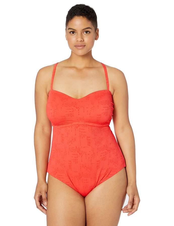 Lucky Brand Women's Plus Size One Piece Swimsuit