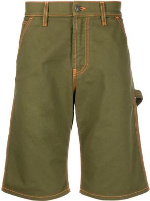 MSGM Strap Detail Denim Shorts
