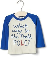 Gap Organic north pole baseball tee