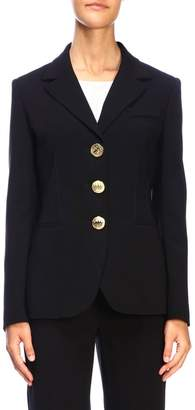Moschino Blazer Single-breasted Jacket With Metal Buttons