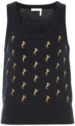 Chloé Embroidered wool vest
