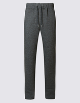 M&S Collection Cotton Rich Twin Stripe Joggers