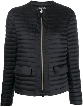 Save The Duck Collarless Quilted Jacket