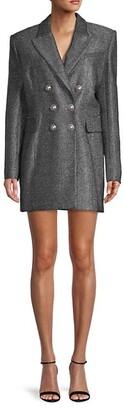 Balmain Virgin Wool-Blend Mini Blazer Dress