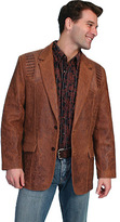 Scully Men's Lambskin Blazer w/ Caiman Inlays 953