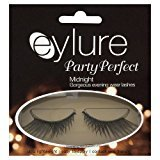 Eylure Party Perfect False Lashes, Midnight, Adhesive Included, 1 Count