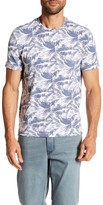Kenneth Cole New York Palm Print Stretch Crew Neck Tee