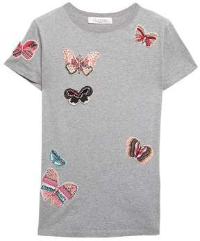 Valentino Appliqued Cotton-jersey T-shirt