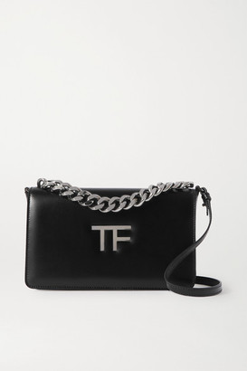 Tom Ford Tf Chain Medium Leather Shoulder Bag - Black