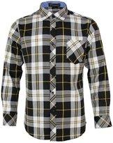 pqdaysun Mens Long Sleeve Flannel Plaid Casual Shirts Checked Button Down Shirt