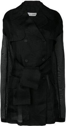 Dolce & Gabbana Pre-Owned 1990's Sheer Double Breasted Coat