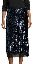 Tory Burch Cove Sequin Midi Skirt