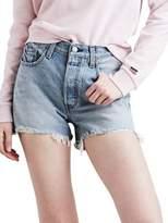 Levi's Premium Frayed Denim Shorts