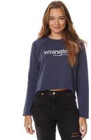 Wrangler Womens Isles Fleece Longerline Jumper Blue